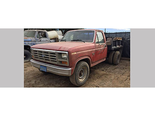 1986 FORD F350 DUMP TRUCK hydraulic dump bed V8 auto gas 160K miles smogged ready to go 220