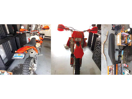 2005 KTM 450 EXC Street Legal CA 3000 low miles steering stabilizer dealer serviced manuals e