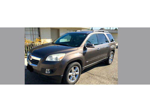 2008 SATURN OUTLOOK XR auto V6 seats 8 3 rows of seating lther backup camera dual sunroofs d