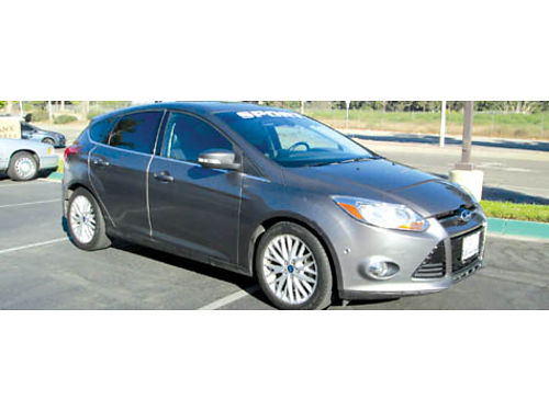 2012 FORD FOCUS SEL auto 4cyl 4dr lthr snrf AC CDNavi 13500 mi fully loaded 30 MPG back