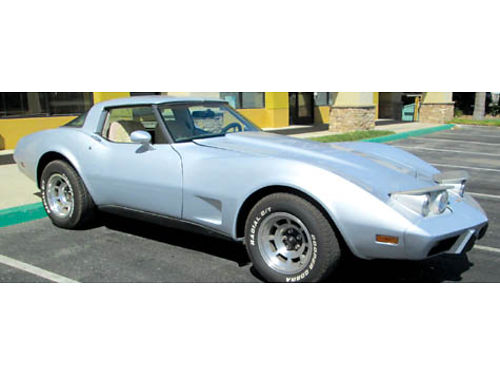 1979 CHEVY CORVETTE L82 eng Muncie Rockcrusher 4 spd ac T-Tops 3K invested win last year lth