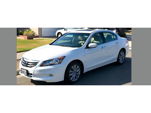 2012 HONDA ACCORD EX V6 auto all power leather 86K miles 4dr sunroof AC CD new brakes all