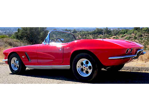1962 CORVETTE Unique 327 cuin close ratio 4-speed 410 rear end Includes ha
