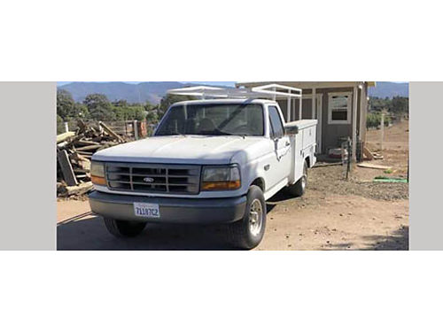 1997 FORD F-350 utility bed and lumber rack 160k miles 460 automatic woverdrive new AC system r