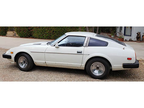 1979 DATSUN 280ZX Auto 6 cyl AC stereo registration paid on non op runs good 74K orig miles