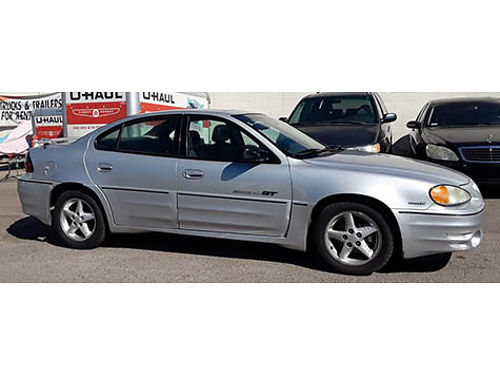 2001 PONTIAC GRAND AM GT V6 34L auto OD ps psnrf pdl alarm pm lthr pseat pb CD airbag