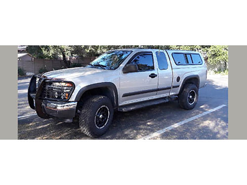 SOLD2007 CHEVY COLORADO EXT CAB 4X4 rare factory power sunroof LEER camper shell new brakes tire