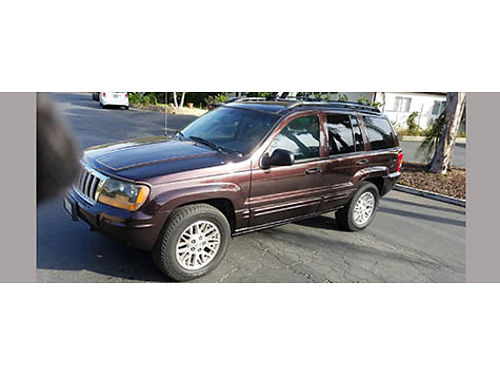 2004 JEEP GRAND CHEROKEE LTD 4X4 auto V8 fully loaded upgraded stereo leather very nice in and