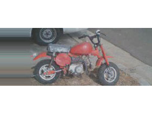1982 HONDA Z50 new seat needs paint runs good 1000