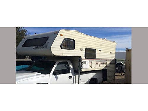 CARIBOU CABOVER CAMPER BY FLEETWOOD 12 No generator fully self cont fits full size longbed truck