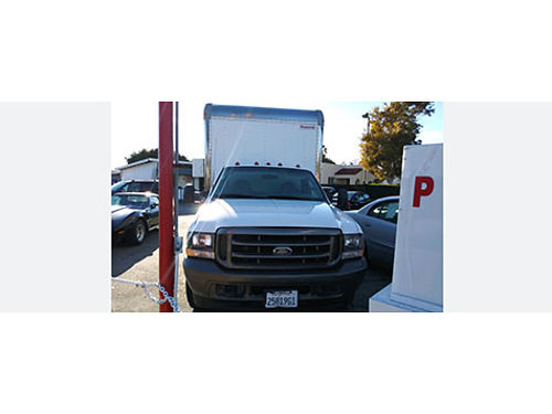 2003 FORD F350 SD BOX TRUCK C40727 9 FT box auto V8 AC everything works great rear roll up d