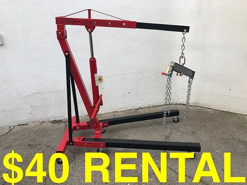 RENTAL 2 TON ENGINE HOIST - Cherry Picker wLeveler 40 per week  100 Depos