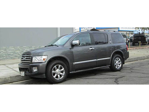 2006 INFINITI QX56 4x4 Auto V8 all pwr back up camsensors snrf Navi lth