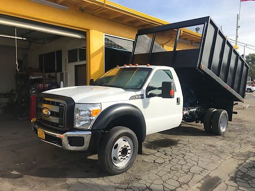 2013 FORD F450 SD - dump truck V10 auto air pw pdl cc tilt low 96k miles 12 steel bed tow