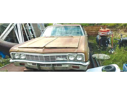 1966 CHEVROLET CAPRICE 2 door bench bucket seats project car complete car everthings there 5000