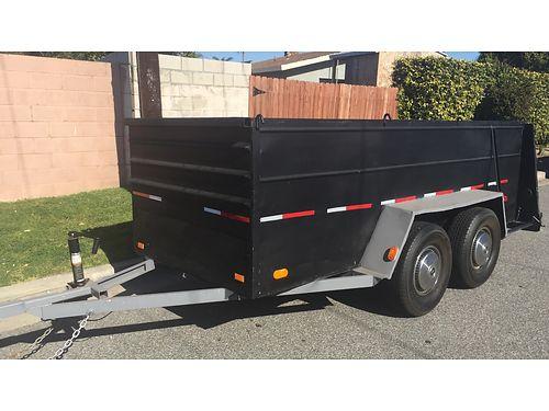 UTILITY TRAILER HD All metal 5 x 12 ramp gate dual axles 41 sides lights tags tires good t