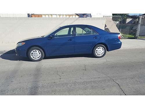 2006 TOYOTA CAMRY blue auto 4 cyl 114K mi 4 dr xlnt cond super clean in  out runs perf cln