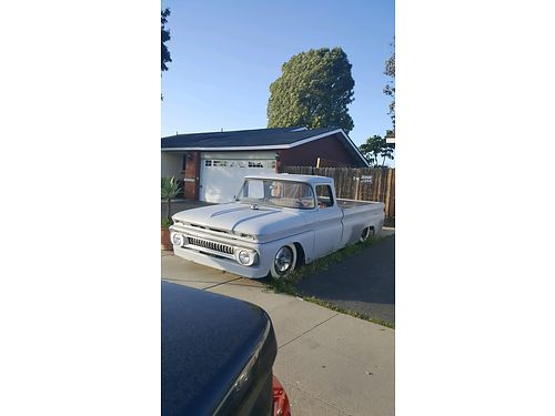 1962 CHEVY C20 3 spd on the floor all stock straight pipe primered rear air