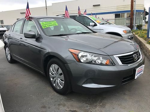 2008 HONDA ACCORD LX - affordable luxury  roomy for family auto OD 4 cyl IVTEC gas saver all p