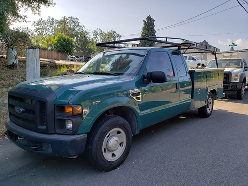 2007 FORD F250 EXT CAB UTILITY BODY rack auto V8 high fwy miles well maint runs great ready