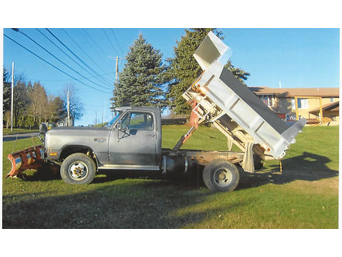 1989 DODGE DUMP 4WD 8500 GVW 59L Cummins diesel 12 valve wTurbo 5-spd manual excellent ru