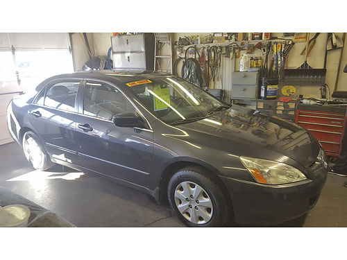 2004 HONDA ACCORD LX 1-owner sedan auto 4 cyl air tilt cruise CD power options serviced goo
