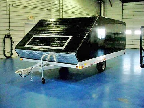 Metzler Auto Truck  Trailer Rance Aluminum 12 Covered Snowmobile Trailer Two Under Bed Frame Mount
