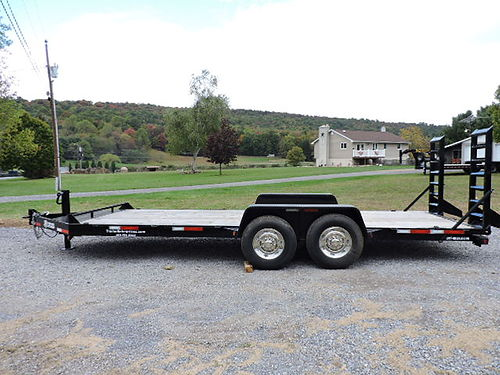 2015 Bri-Mar EH20-10LE Equipment Trailer 14000 lbs capacity 20 flat deck all LED lights 16 tir