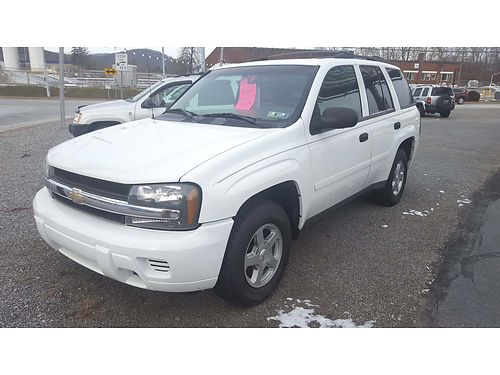 2006 CHEVROLET TRAILBLAZER LS 4WD auto V6 AC tilt cruise AMFMCD poweroptions serviced goo