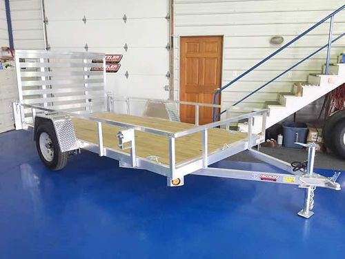 Metzler Auto Truck  Trailer Quality Steel  Aluminum 62 x 12 Utility Trailer 2990 lb GVWR 15 T