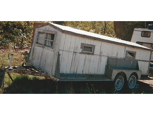 HUNTERS Camper- good roof queen size bed lights need minor repair 2 miles from Irwin PA  1 mile