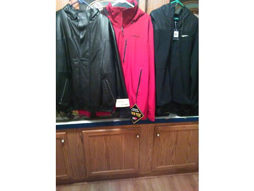 JACKETS  Coats- all are new wtags Mens size XXL Black leather coat King Size genuine leather