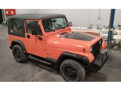 1995 JEEP WRANGLER 4WD 4cyl auto 2-dr removable hard top over 2000 in new parts insp daily