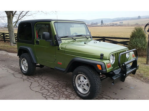 1997 JEEP WRANGLER 4WD hard top very nice frame  body New Susp steering  brake systems 5 new