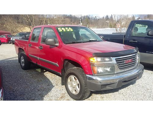 2006 GMC CANYON CREW CAB Auto 4WD V6 145K miles Loan value 8600 Our price 5950 Ebersole Aut
