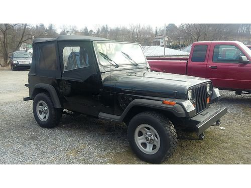 1995 JEEP WRANGLER 4cyl manual clean 190K inspected REDUCED 2950 Ebersole Auto Sales 2816