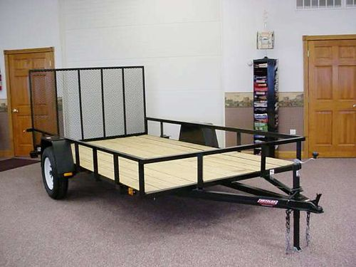 Metzler Auto Truck  Trailer Force 6-6x12 Utility Trailer 3000 lb GVWR PAINTED WITH E-COATING C