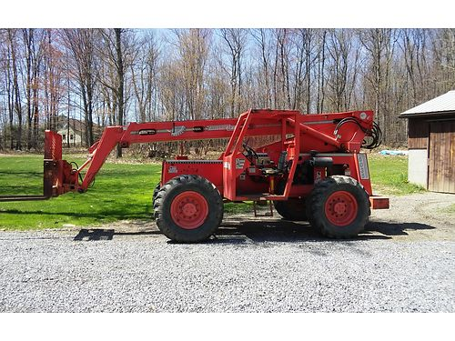 TRAVERSE Rough Terrain fork lift 38 boom 6000 lb lift Cummins motor everything works 12000