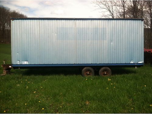 CONSTRUCTION Storage Trailer 8Wx7Hx21L has two axles for easy mobility for use as storage hau
