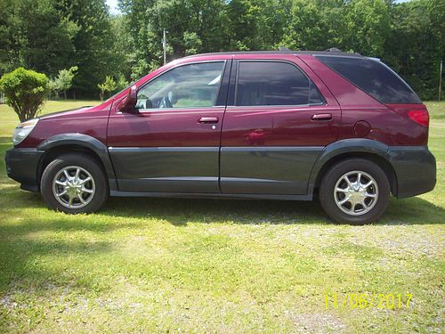 2004 BUICK RENDEZVOUS 4WD auto red 139K miles runs well incl 4 extra studded snow tires mounte