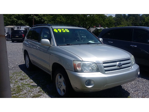 2005 TOYOTA HIGHLANDER LIMITED Auto Air 4WD 166K miles Very nice condition 4950 Ebersole Au