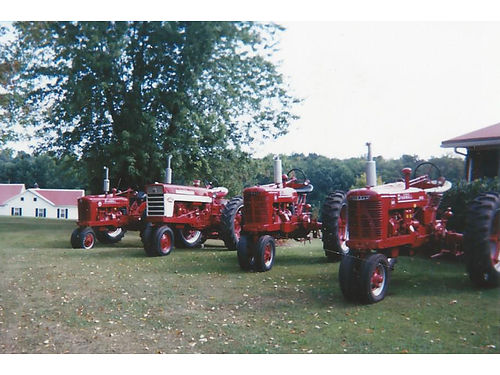 FARMALL Tractors for sale all restored 20 year tractor collection lots of new rubber  parts sel