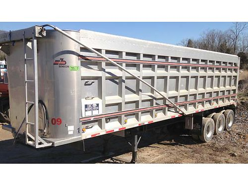 1998 COAL TRAILER Benson aluminum 36 long 102 wide 3 down axles good tires new Mountain tarp