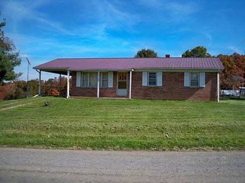 CROCKETT VA 145 acre mini farm w 3BR 1BA brick ranch full basement total electric w backup h
