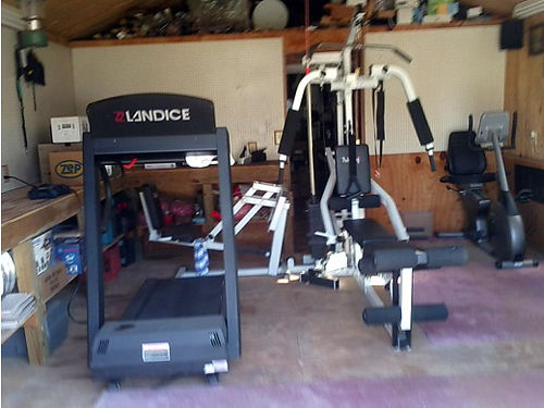 VISION FITNESS stationary bike body strata strength training system wweights bench etc Landice