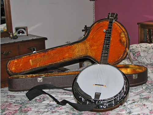 BANJO Alvarez 7475 Japanese made includes old looking case GC 725 Greeneville TN 423-638-8295
