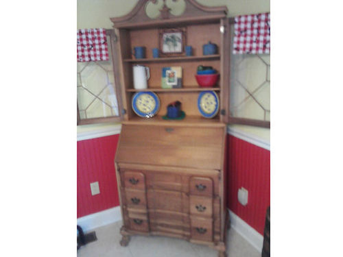 SECRETARY antique white walnut also called butter nut walnut very rare absolutely beautiful this