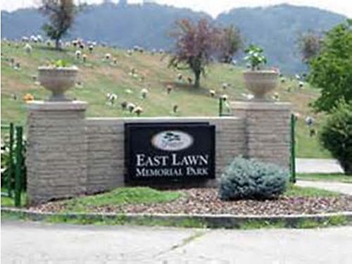 EAST LAWN Funeral Home  Memorial Park 2 cemetery burial plots side-by-side Christus Gardens qu