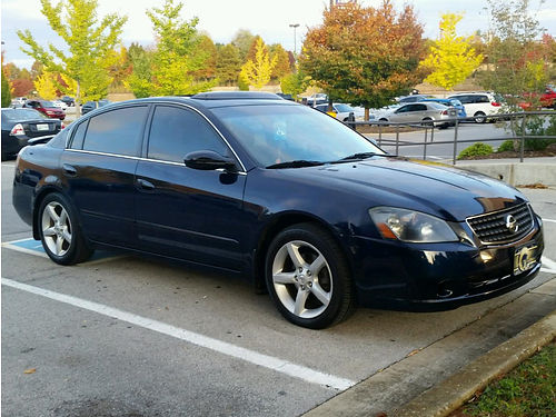 2005 NISSAN ALTIMA SE-R leather loaded sunroof Bose stereo w6 disk CD changer tint well maint