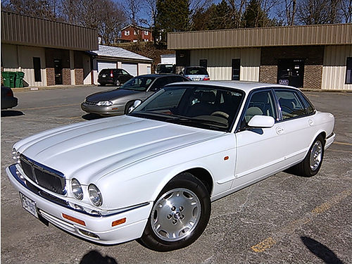 1997 JAGUAR XJ6 one-owner 166k miles white wbeige interior garage kept extra clean last year o